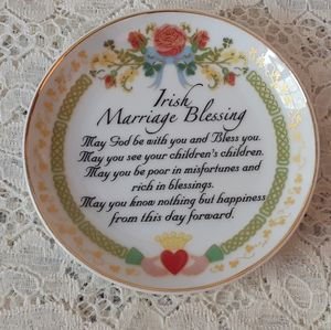 Small Plate with Irish Marriage Blessing Ireland